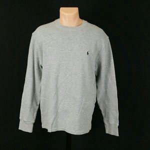 Polo Ralph Lauren Men's Gray Thermal Longsleeve T